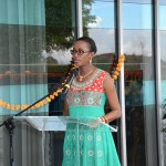 Minister Olivierre at the South Office event.