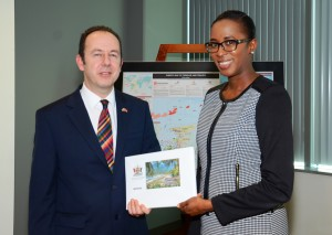 Minister Olivierre and the British High Commisioner