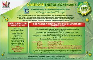 CARICOM ENERGY MONTH Flyer
